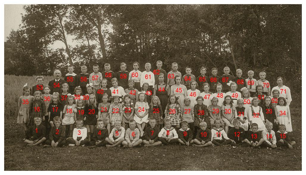 Boddum skole 1921.