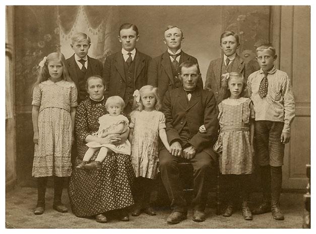 Kristen Madsen med familie.