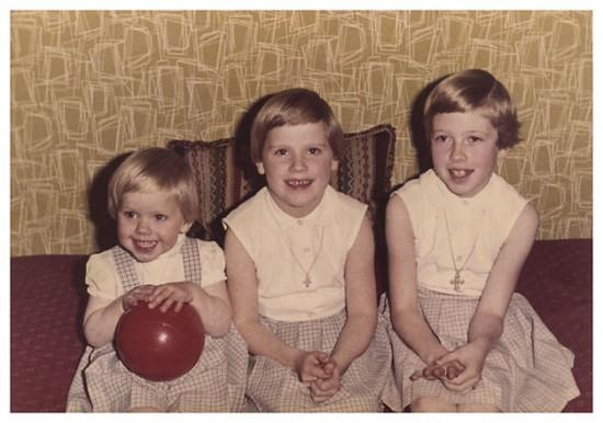 Lis, Hanne og Jette Bransholm December 1962