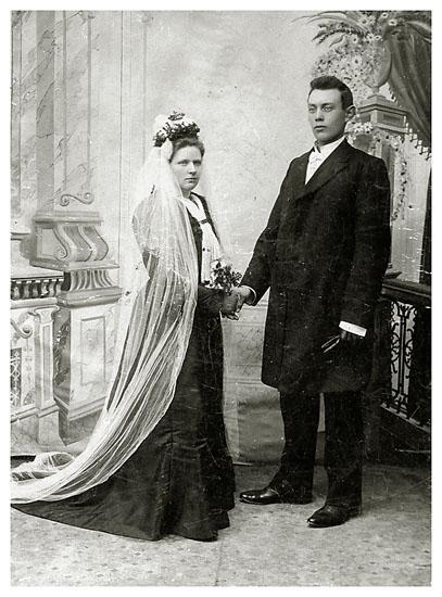 Else Kirstine og Kristian Riis, 1873